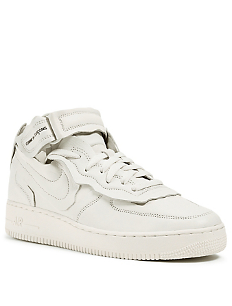 COMME DES GARÇONS X NIKE Women's CDG x NIKE Cut Off Air Force 1 Leather Sneakers Women's White