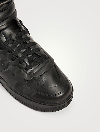 COMME DES GARÇONS X NIKE Women's CDG x NIKE Cut Off Air Force 1 Leather Sneakers Women's Black