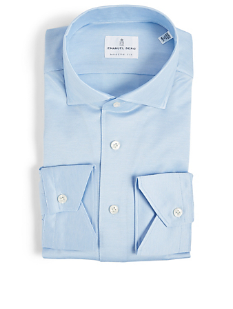 EMANUEL BERG Cotton Jersey Shirt Men's Blue