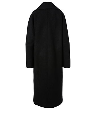 HISO Wool Oversized Midi Coat Women's Black
