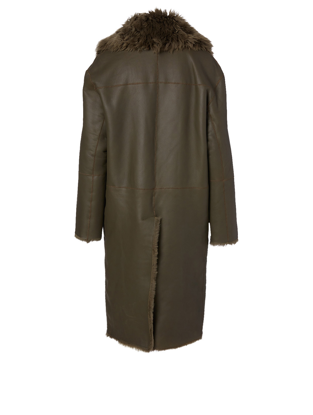 HISO Cartier Shearling Reversible Coat Women's Green