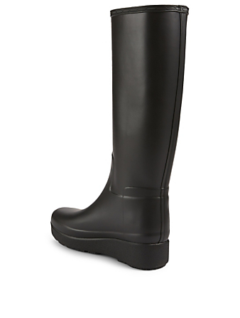 HUNTER Rubber Creeper Knee-High Boots Women's Black