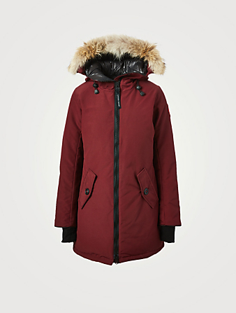 CANADA GOOSE Rosemont Down Parka With Fur Hood Women's Red