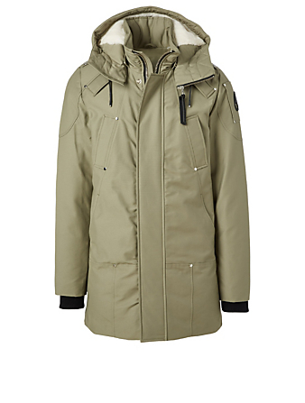 MOOSE KNUCKLES Saint Ulric Down Parka With Shearling Liner Men's Green