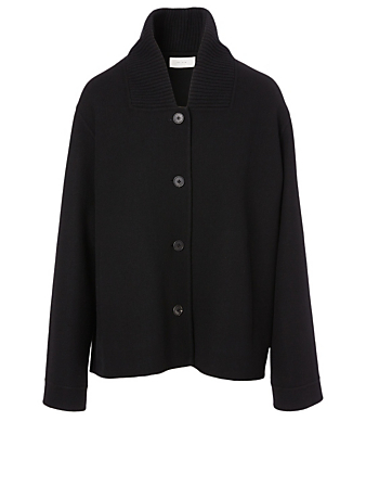 THE ROW Rosetta Wool-Blend Coat Women's Black