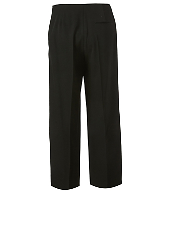 THE ROW Pantalon court en laine Ander Femmes Noir