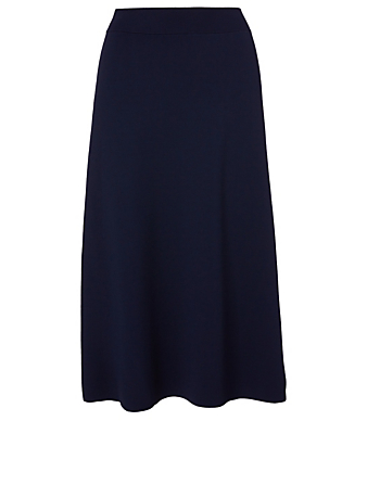 THE ROW Araceli Viscose Midi Skirt Women's Blue