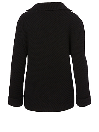 THE ROW Abely Wool Cardigan Women's Black
