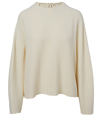 THE ROW Linda Cady Blouse Women's White