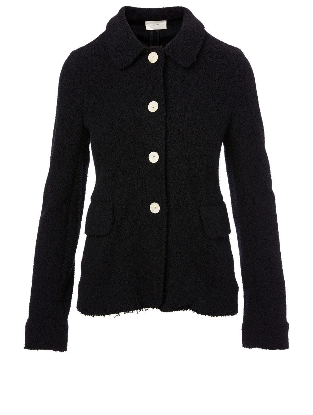 THE ROW Annica Boucle Jersey Jacket Women's Black