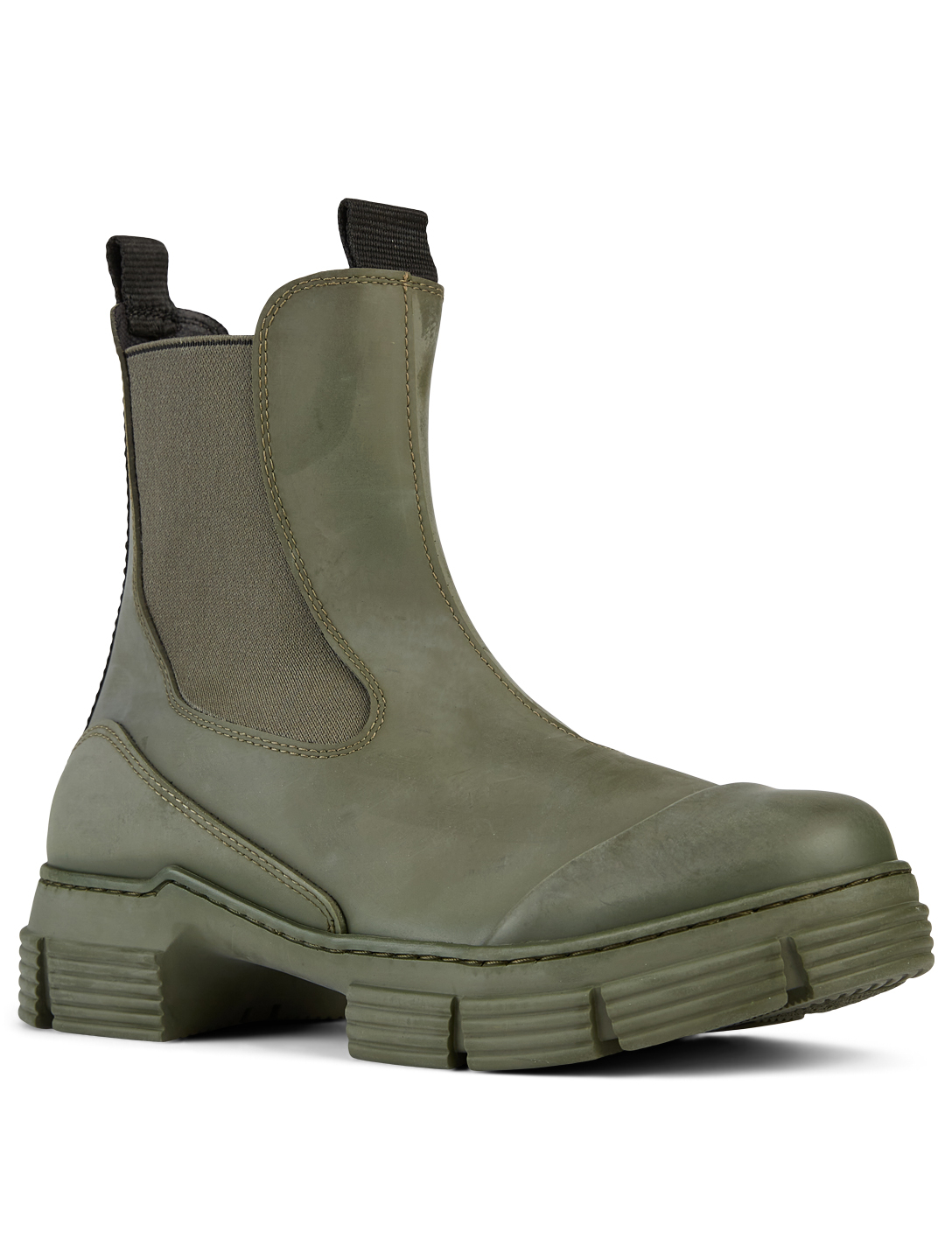 GANNI Recycled Rubber Chelsea Boots Women's Green