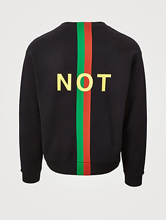 GUCCI Fake Not Cotton Sweatshirt Men's Black