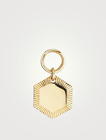 MARIA BLACK Kim Octagon Goldplated Charm Women's Metallic