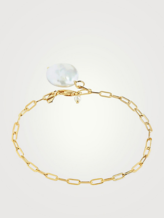 MARIA BLACK Alessandra Goldplated Bracelet With Pearl Women's Metallic