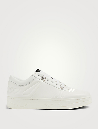 JIMMY CHOO Hawaii/F Leather Sneakers Women's White