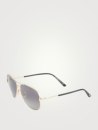 TOM FORD Clark Aviator Polarized Sunglasses Men's Pink
