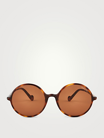 MONCLER Round Sunglasses Women's Brown