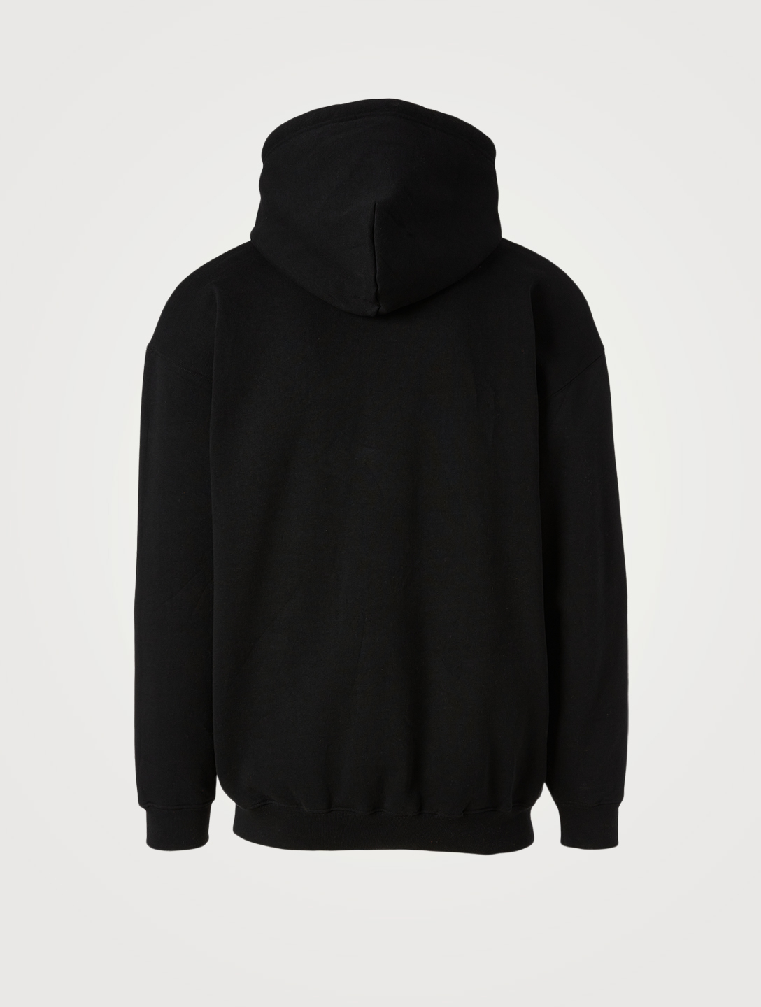BALENCIAGA Languages Cotton-Blend Hoodie Men's Black