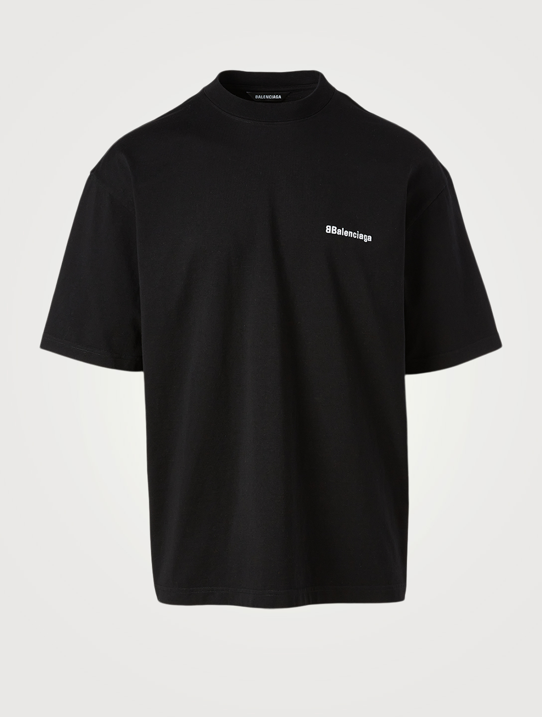 BALENCIAGA BB Corp Cotton T-Shirt Men's Multi