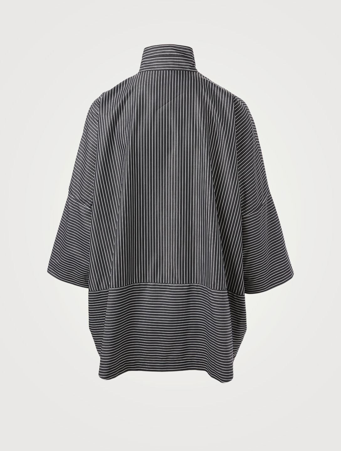 ESKANDAR Cotton Shirt In Striped Print Women's Grey