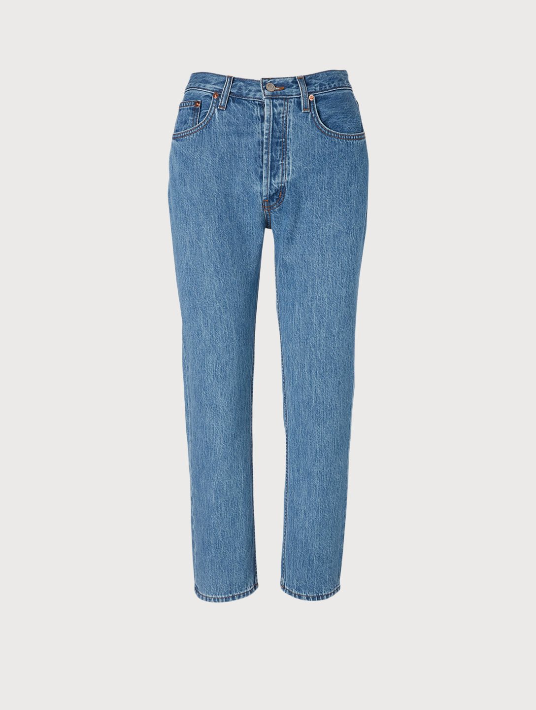 STILL HERE Tate Fragmented Pieces Crop Jeans Women's Blue