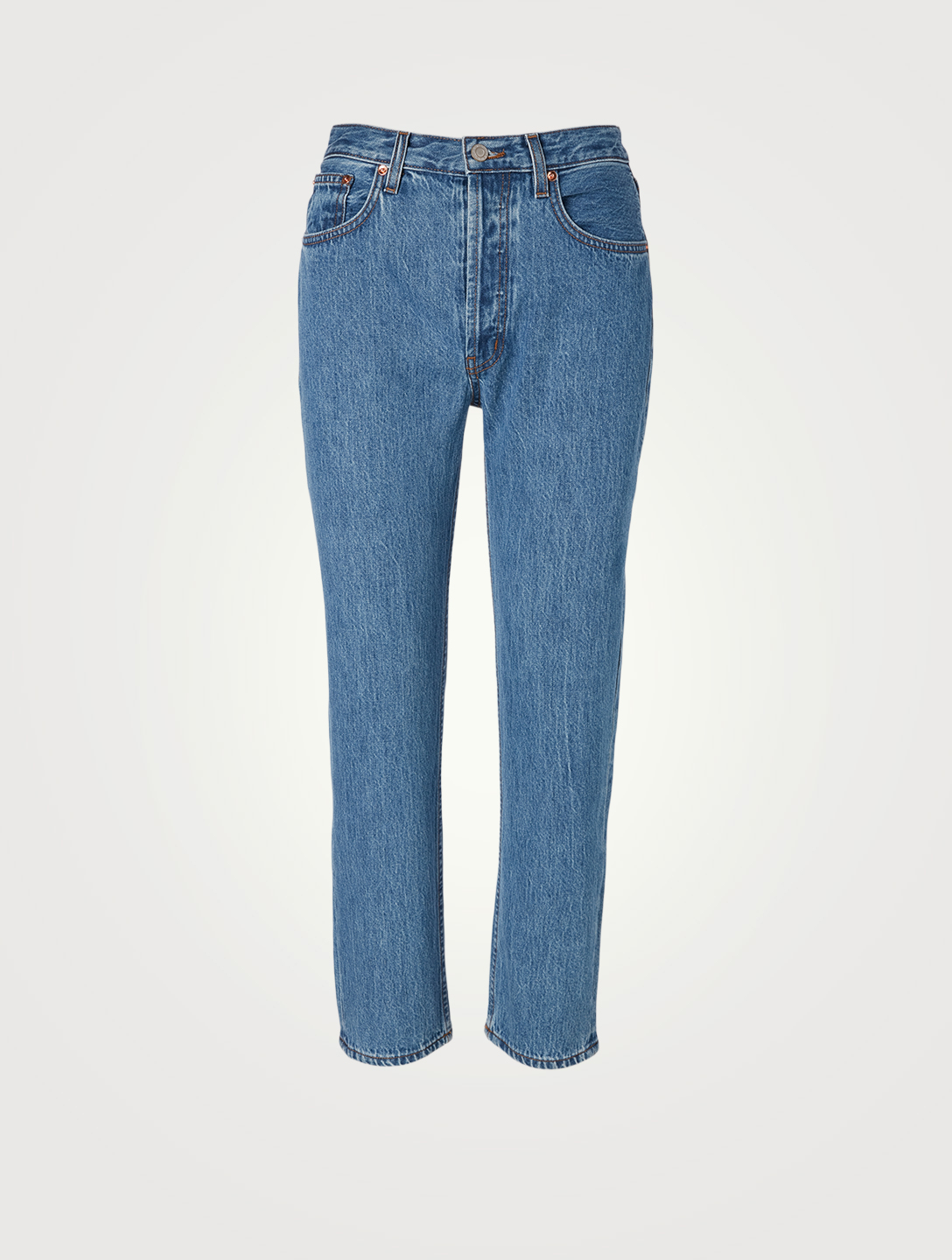 STILL HERE Tate Open Navy Crop Jeans Women's Blue