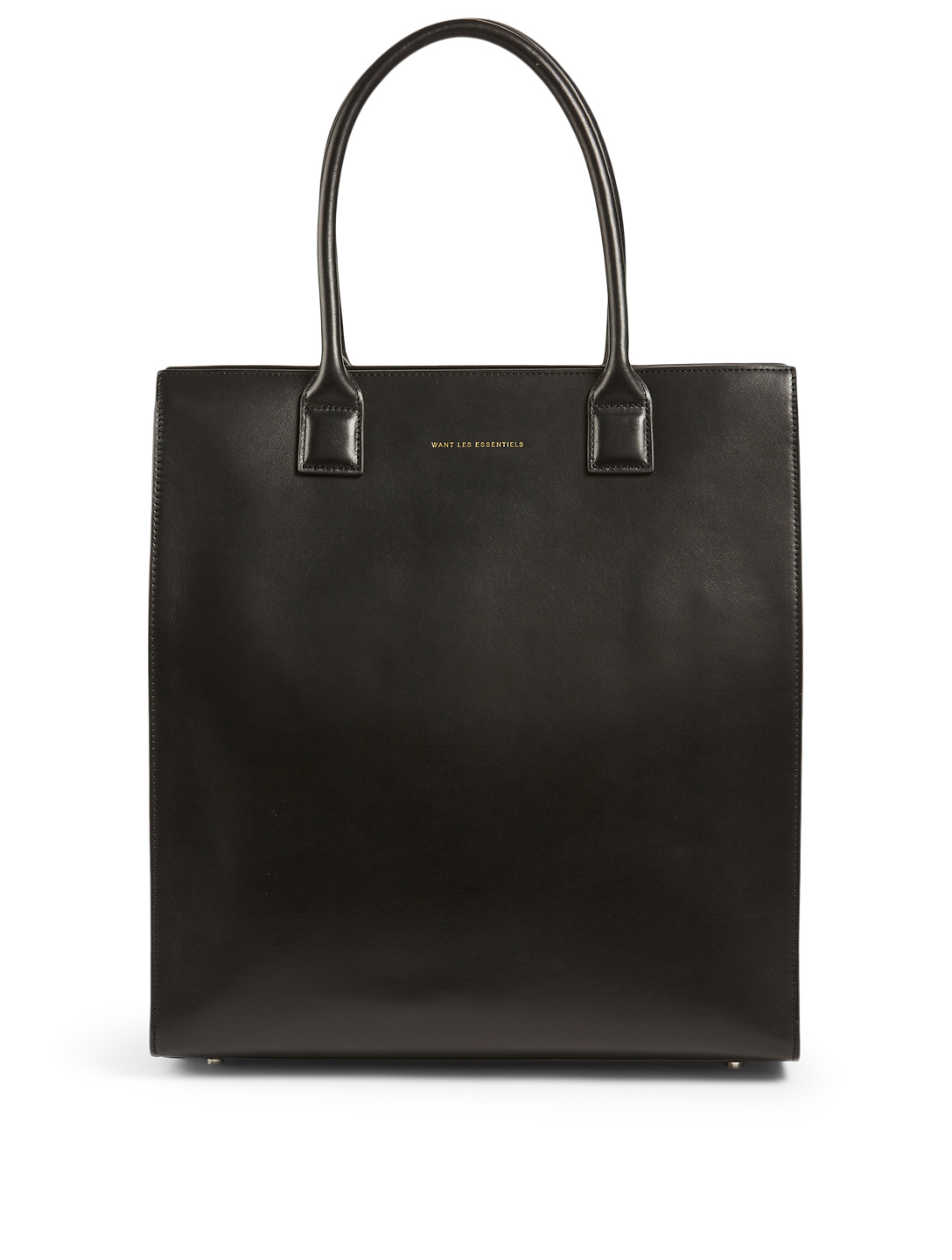WANT LES ESSENTIELS Aberdeen Structured Leather Tote Bag Women's Black