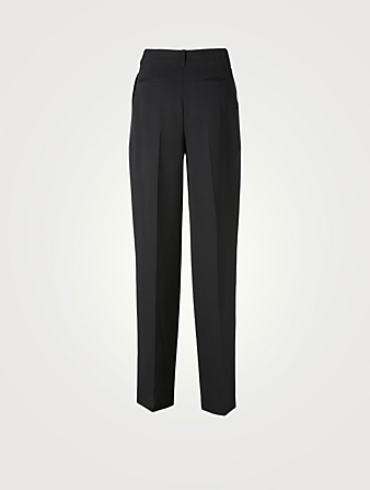 STELLA MCCARTNEY Jayda Wool High-Waisted Pants Women's Black