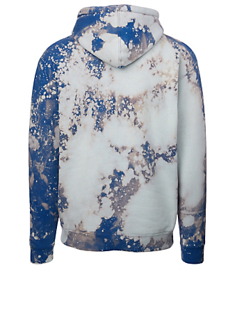 SAINTWOODS Cotton-Blend Hoodie With Acid Logo Men's Blue
