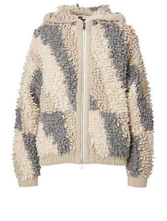STELLA MCCARTNEY Alpaca And Wool Looped Stitch Jacket Women's Beige