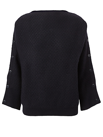 STELLA MCCARTNEY Wool-Blend Sweater With Snap Buttons Women's Blue