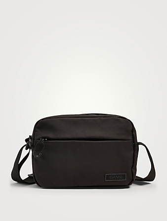 GANNI Festival Recycled Tech Fabric Crossbody Bag Women's Black