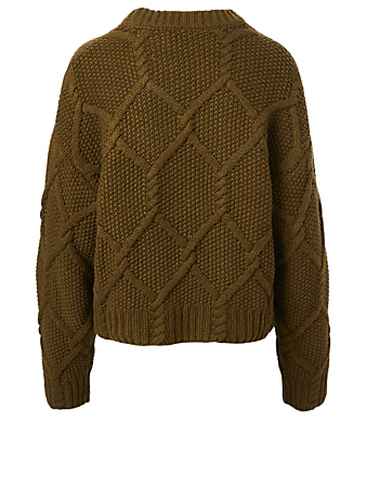 SAMSØE SAMSØE Paula Wool-Blend Crewneck Sweater Women's Green