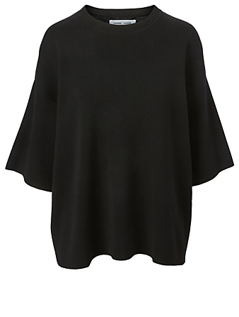 SAMSØE SAMSØE Lenka Wool T-Shirt Women's Black