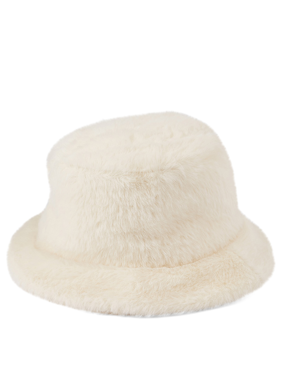 RUSLAN BAGINSKIY Faux Fur Bucket Hat Women's White