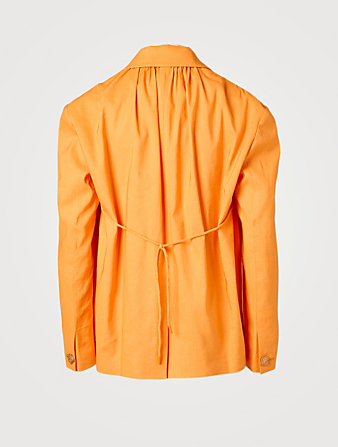 REJINA PYO Blazer surdimensionné Ashley à cordons de serrage Femmes Orange