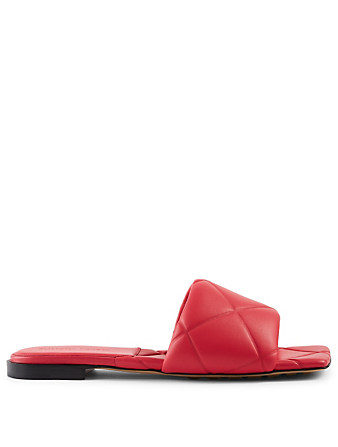 BOTTEGA VENETA The Rubber Lido Quilted Leather Slide Sandals Women's Pink