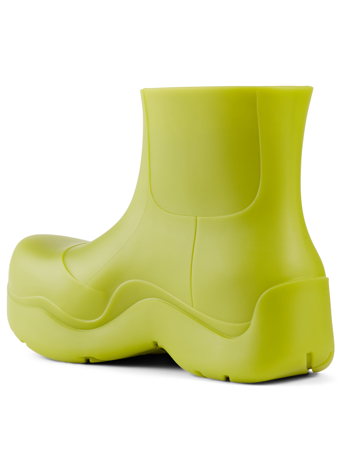 BOTTEGA VENETA The Puddle Rubber Ankle Boots Women's Green