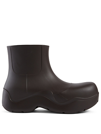 BOTTEGA VENETA The Puddle Rubber Ankle Boots Women's Brown