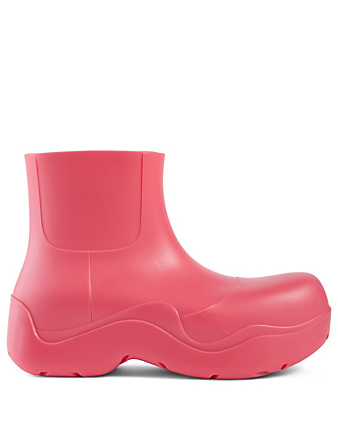 BOTTEGA VENETA The Puddle Rubber Ankle Boots Women's Pink