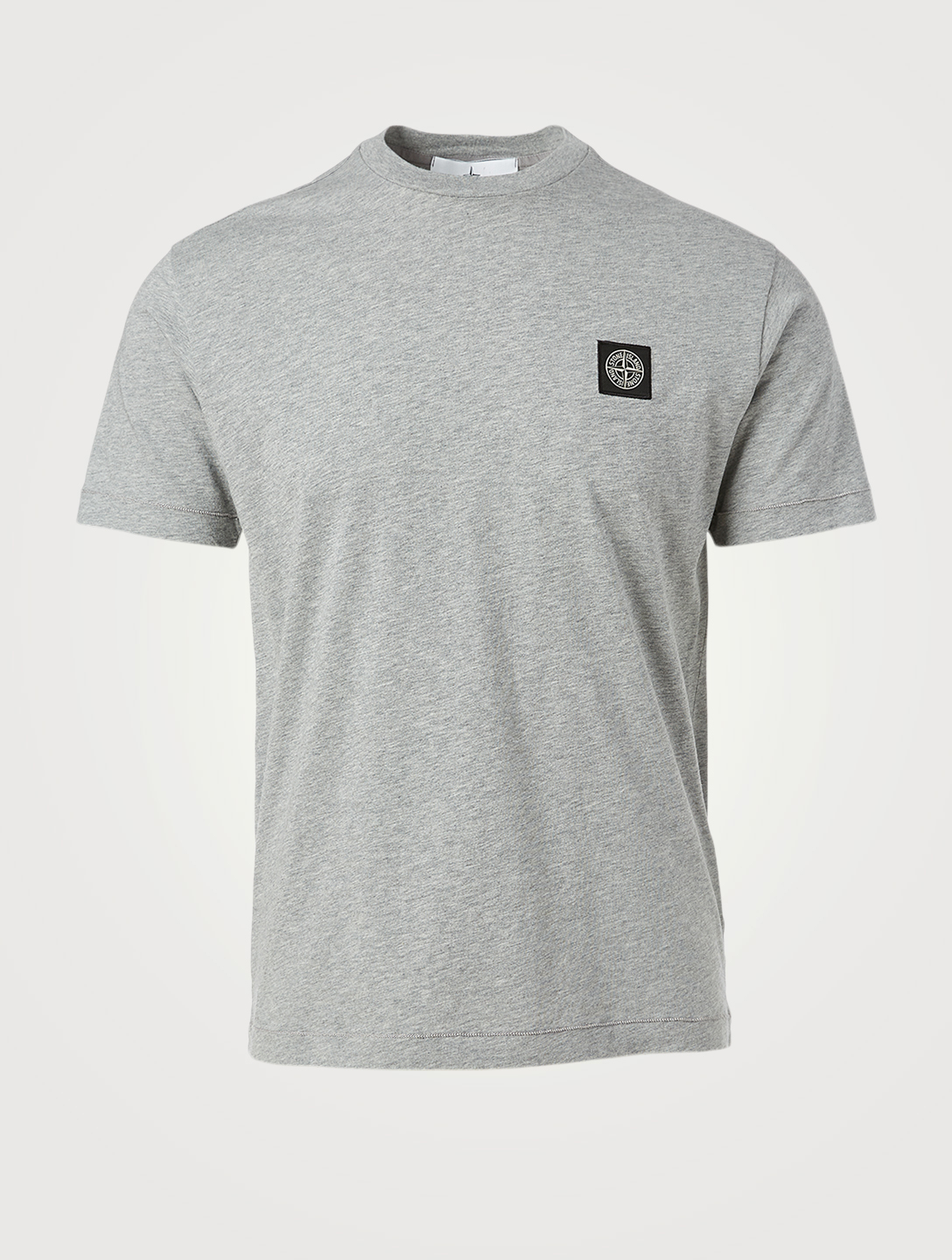 STONE ISLAND Cotton Roundneck T-Shirt Men's Grey