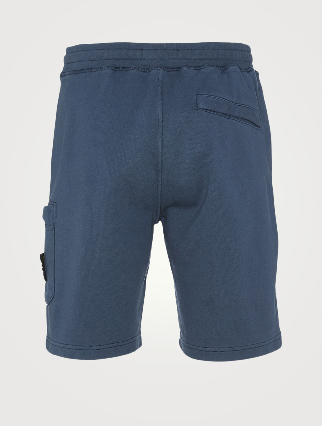 STONE ISLAND Cotton Fleece Shorts Men's Blue