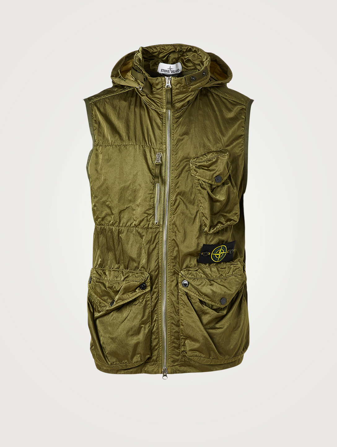 STONE ISLAND Nylon Raso-TC Zip Vest Men's Green
