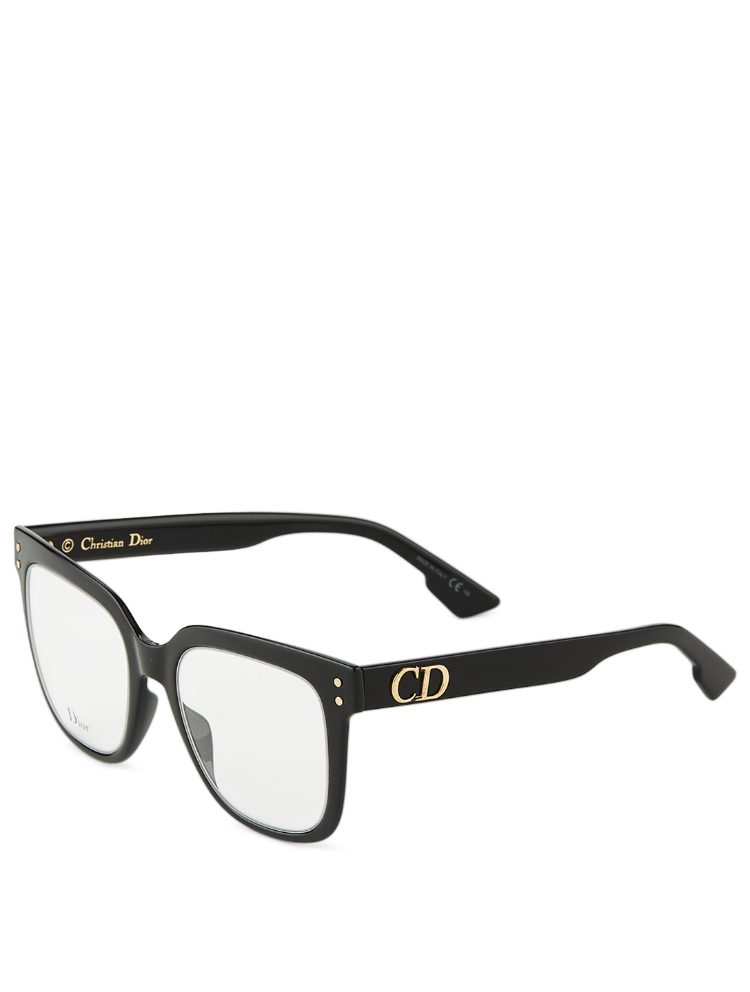 DIOR DiorCD1 Rectangular Optical Glasses Women's Black