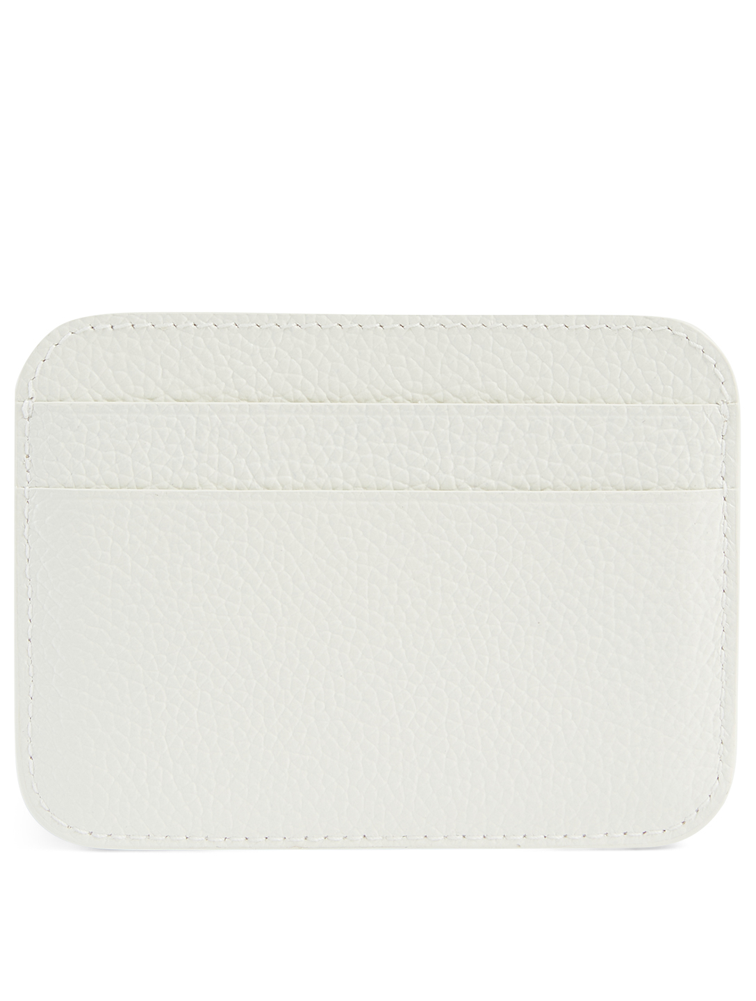 BALENCIAGA Cash Everyday Leather Card Holder Women's White