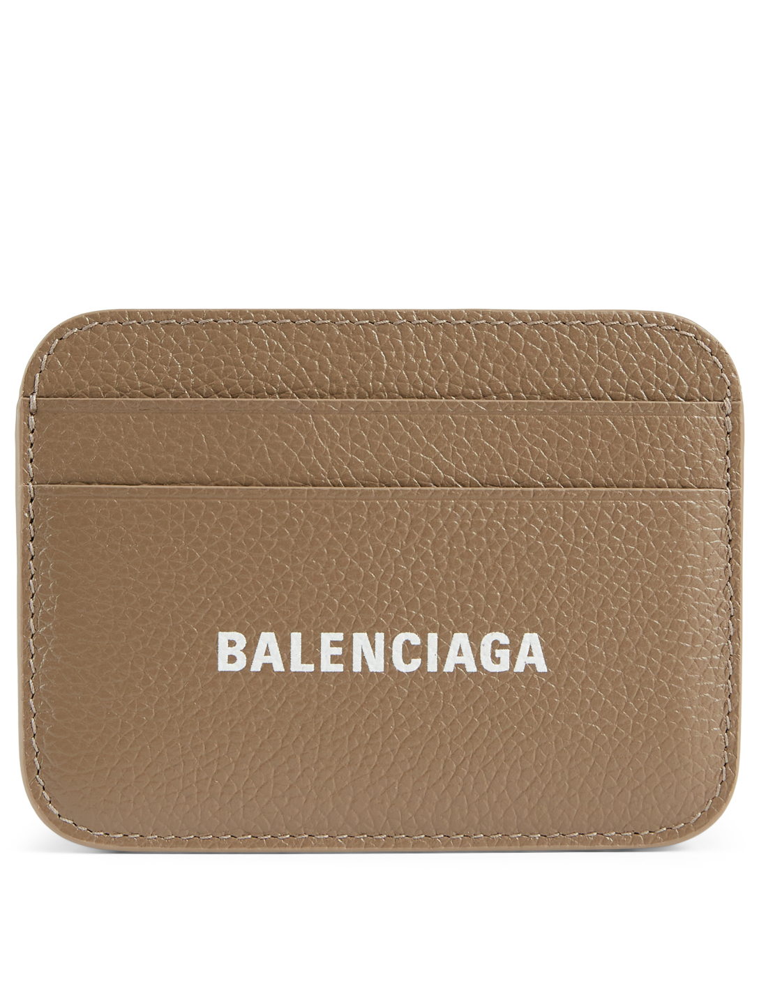 BALENCIAGA Porte-cartes Cash Everyday en cuir Femmes Gris