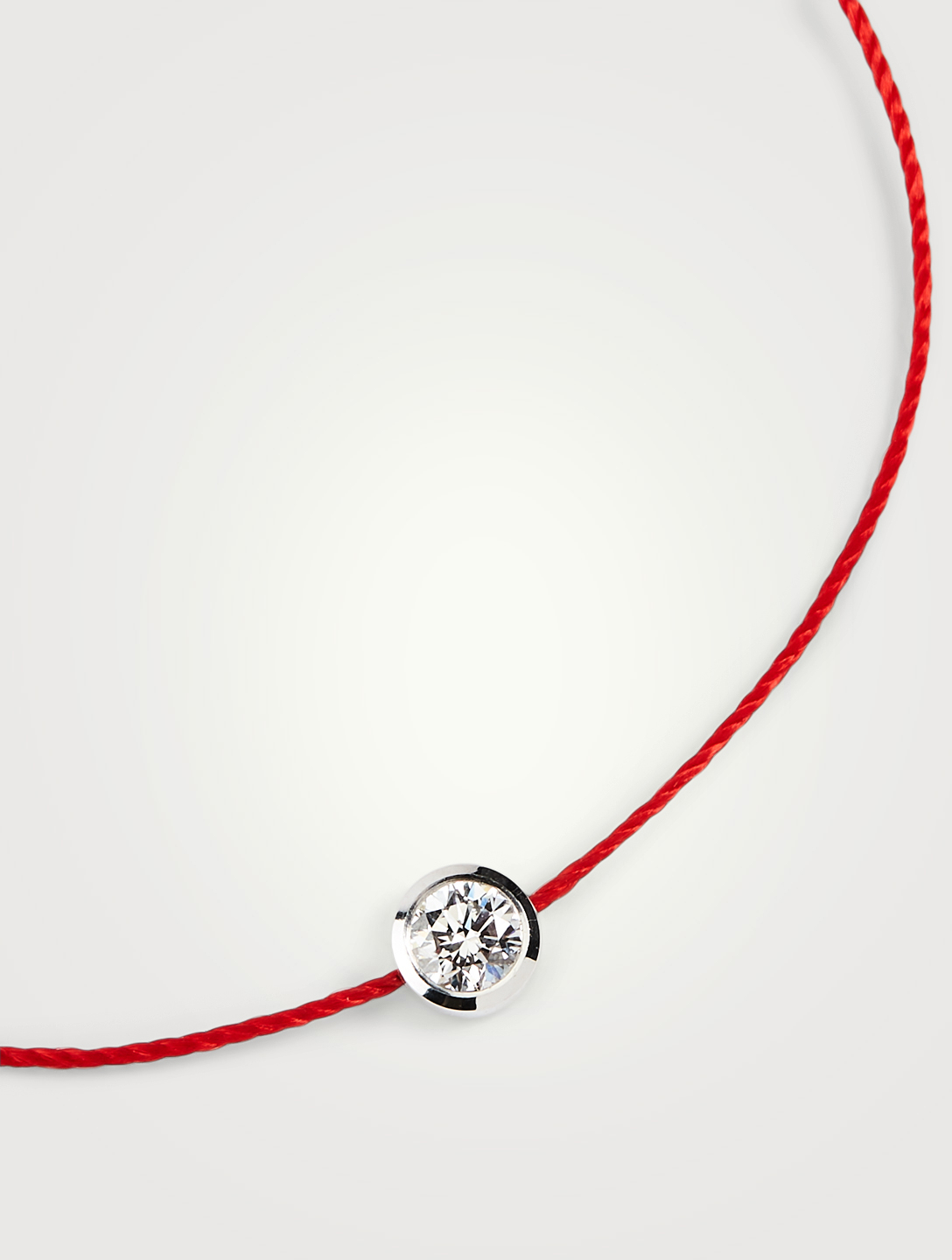REDLINE So Pure 18K White Gold String Bracelet With Diamond Women's Metallic