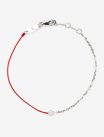 REDLINE Illusion 18K White Gold String-Chain Bracelet With Diamonds Women's Metallic