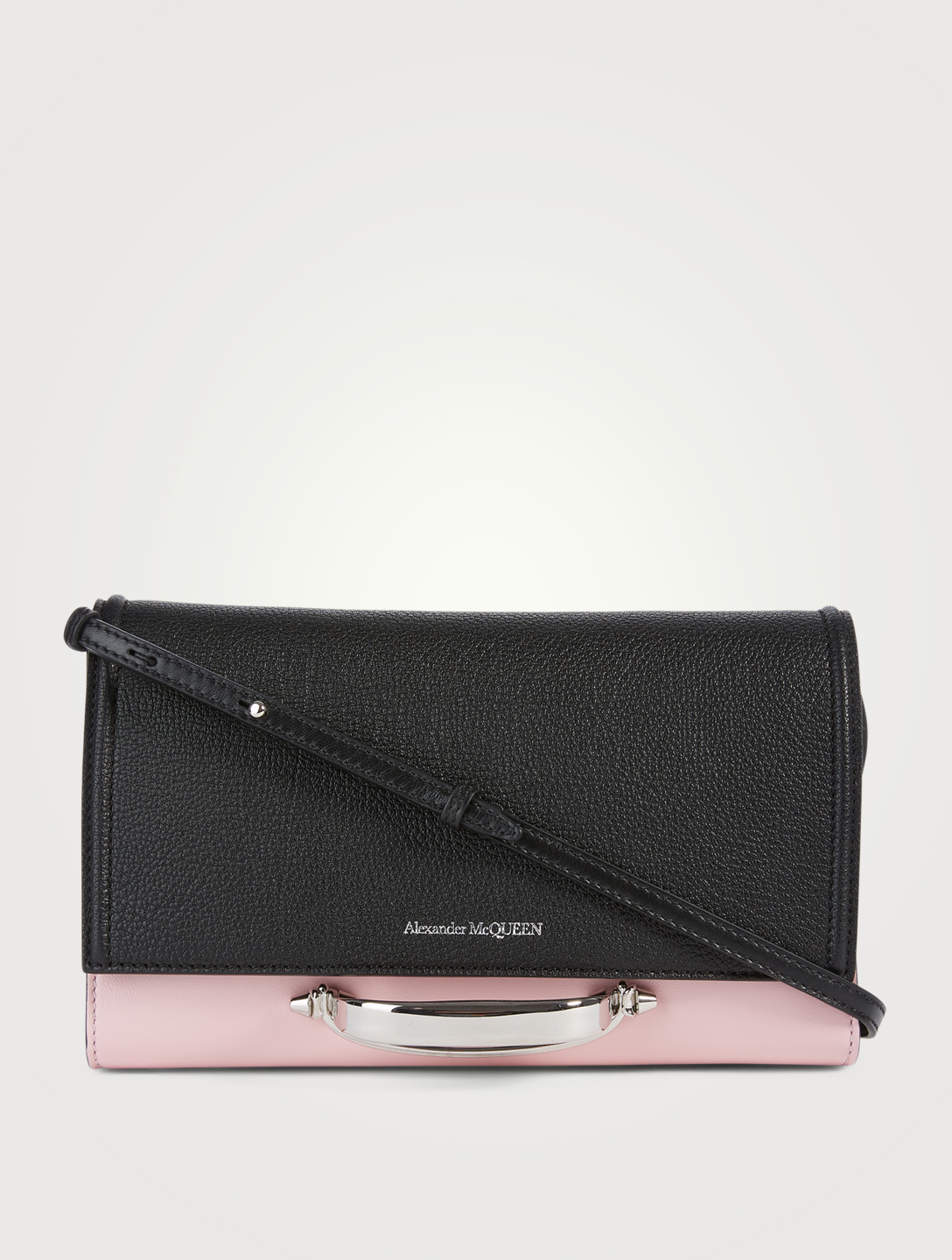 ALEXANDER MCQUEEN Small The Story Leather Crossbody Bag Women's Black