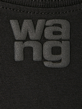 ALEXANDERWANG.T Shrunken T-Shirt With Logo Women's Black